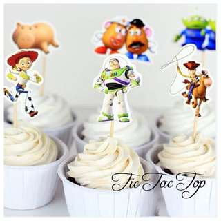 12x Toy Story Food Cupcake Topper Pick. Party Supplies