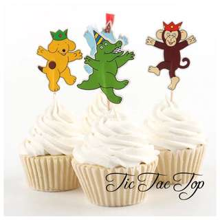 12 X Spot The Dog Party Food Cupcake Topper Pick