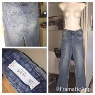 Seed Heritage Braided Tight Jeans Sz 6