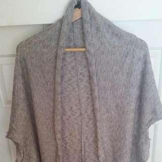 Refuge Grey Knit Cape