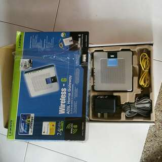 Linksys ADSL Home Gateway WAG354G, Bought But never use. Am clearing my stuff.