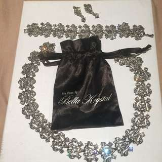 Swarovski Bridal Jewellery Set From Fine Pieces By Bella Krystal free shipping with tracking