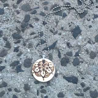 *Price Drop* Amandal Life - Woodburned Pendant