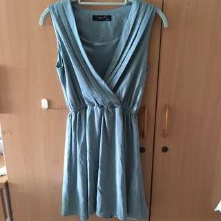 全新 藍綠色洋裝