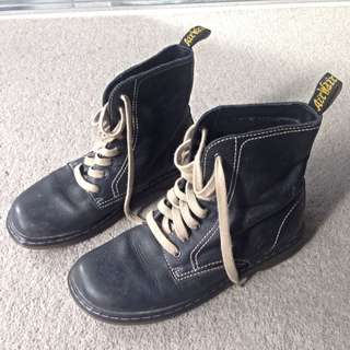Navy Doc Martens Air Wair Shoes