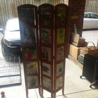 Freestanding 3 Panel Photo Screen