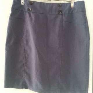 Size 10 - Grey Work Skirt