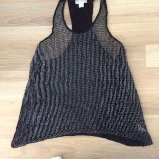 cotton on XS black grungey mesh metal top price negotiable
