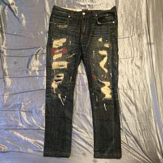 破壞潑漆百搭牛仔褲