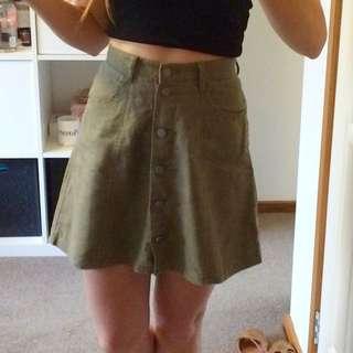 Vintage Khaki Skirt
