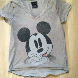 official Disney mickey mouse gray top bought from zara price negotiable