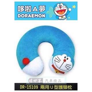 權世界@汽車用品 日本 哆啦A夢 小叮噹 Doraemon U型枕 頭頸枕 護頸枕 旅行必備 DR-15109