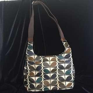 Authentic Orla Kiely Tonal Stem Print Retro Sling Cross Body Bag
