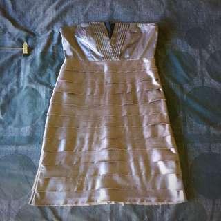 Silver Strapless Dress