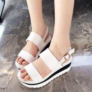 台灣手工韓系風格黏帶涼鞋