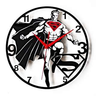 🚚 Super Man美式漫畫風超人造型靜音時鐘