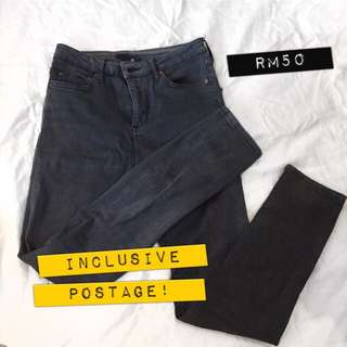 //USED TOPSHOP Faded Grey Pants (Jamie Cutting)