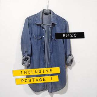 //USED TOPSHOP Chambray Top
