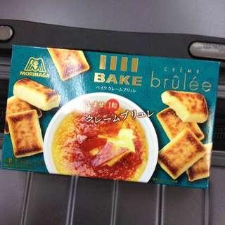 5月連線商品 森永BAKE 焦糖布丁口味 燒餅乾