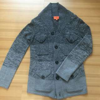 漸層灰色針織外套