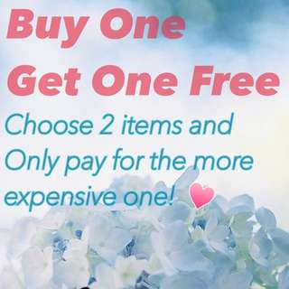 Buy One Get One For Free