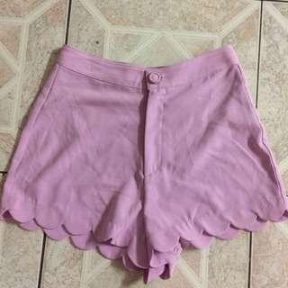Lavender High Waisted Soft Shorts