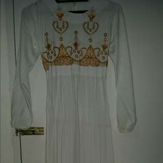Prelove Dress White Kombine Gold