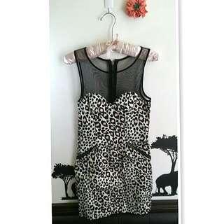 💙全新H&M豹紋合身洋裝💙