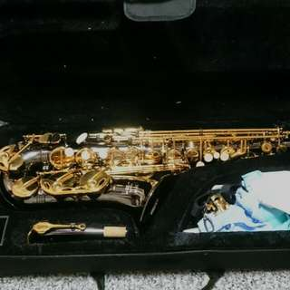 Nickel And Gold Plated Beginner Alto Saxophone