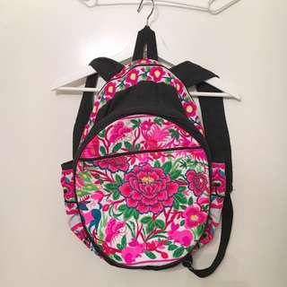 Embroidered Backpack Bag
