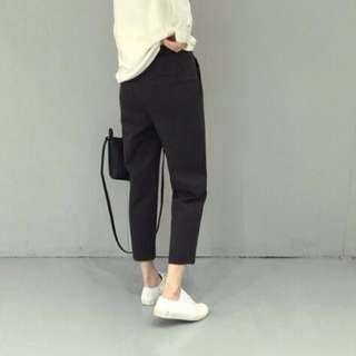寬鬆顯瘦西裝褲-深灰
