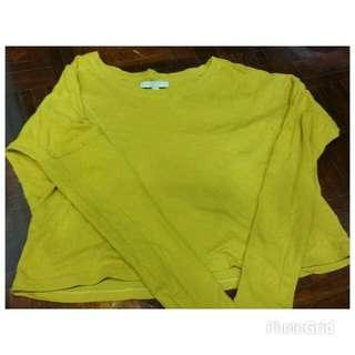 Yellow Color Zara Top - Long Sleeve