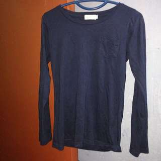 Scarlet Navy Blue Top