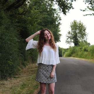 H&M Flare Sleeve Blouse