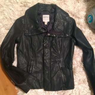 Genuine Leather jacket Esprit size 8