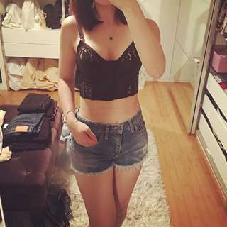 Nasty Gal crop top size S  and Bardot short s8