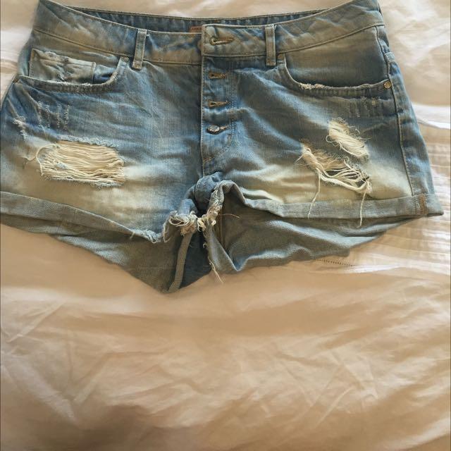 2x Berksha Denim Shorts