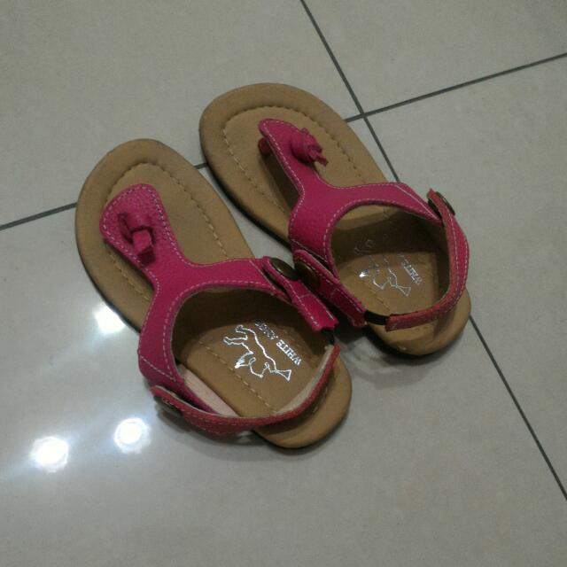 桃色夾腳涼鞋,9成新(材質很好)