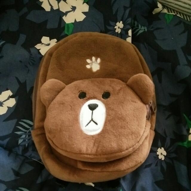 熊大造型後背包零錢包