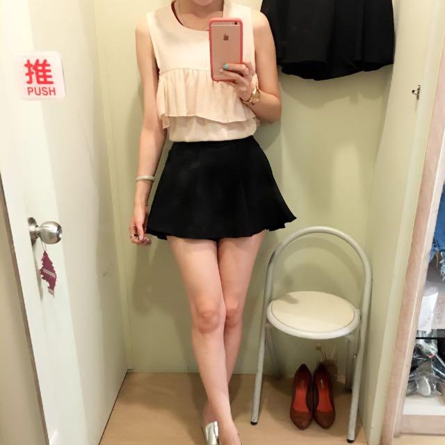 正韓 百搭裙褲(裙裡面有褲)
