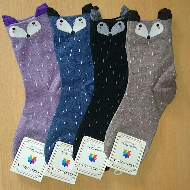 🌟買五雙免運🌟狐狸造型 長襪