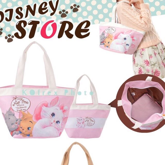 日本迪士尼❤️ᶜᵁᵀᴱ 瑪麗貓購物袋