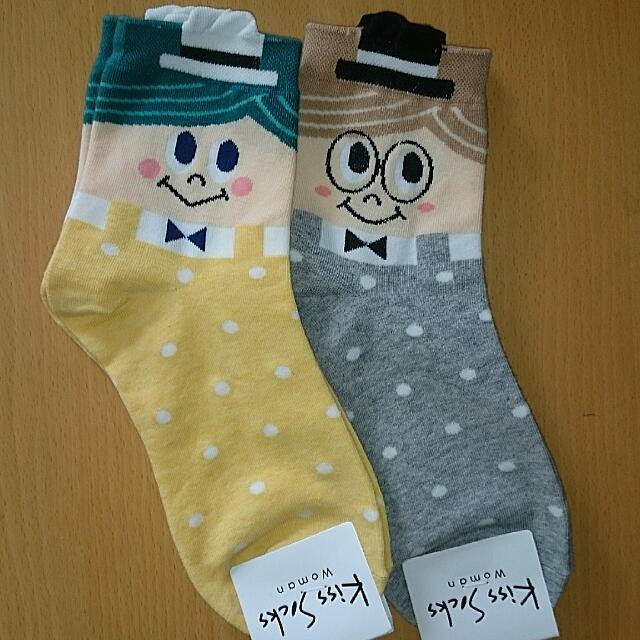 🌟買五免運🌟俏皮先生  造型 可愛短襪