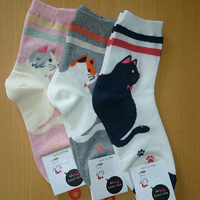 🌟買五送一🌟韓製 貓咪 長襪