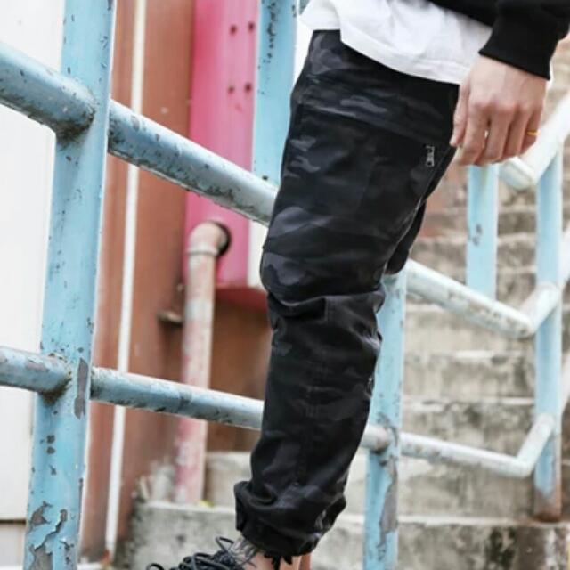 【長褲】 軍事風迷彩休閒褲Jogger Pants隱蔽者潮牌束腳褲潮男工裝褲