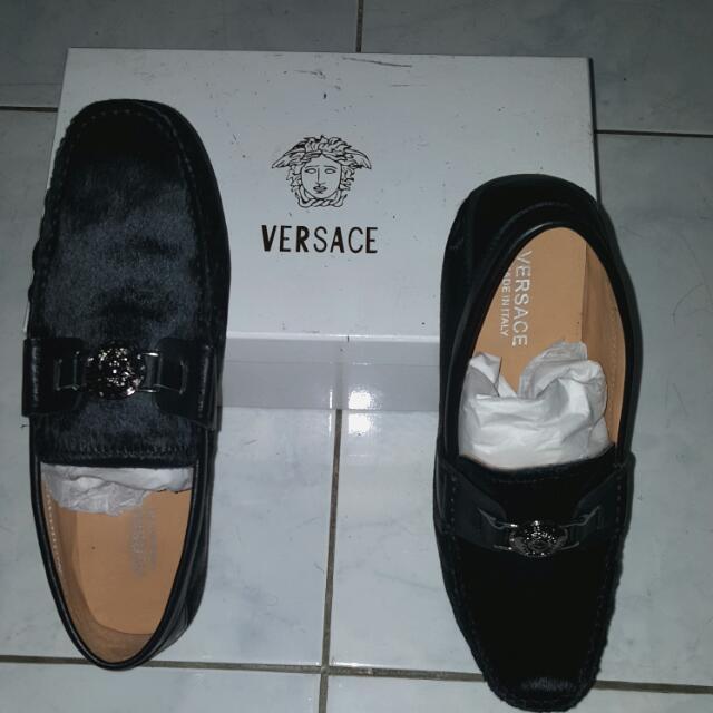 Aunth.Versace MALE Shoes (Black ROYAL FUR)