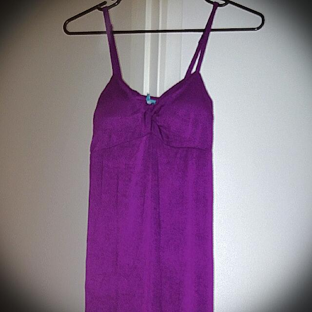 Beautiful purple dress / brand new with a tag