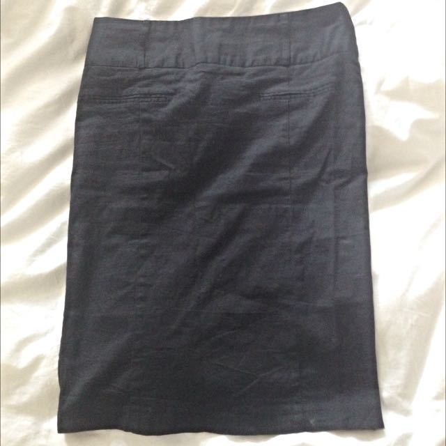 Black Size 8 Pencil Skirt
