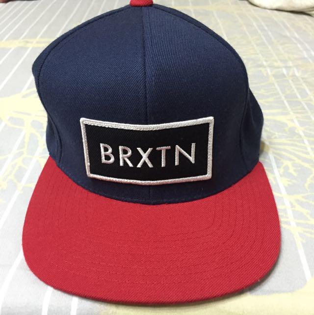 Brixton 棒球帽 藍紅 後扣式