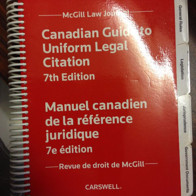 canadian guide to uniform legal citation
